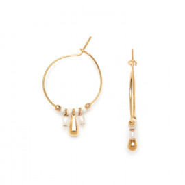 small creole earrings with gold drop Abelha - Franck Herval