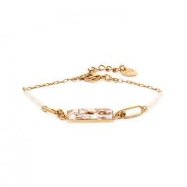 chain bracelet with rectangular element Abelha - Franck Herval