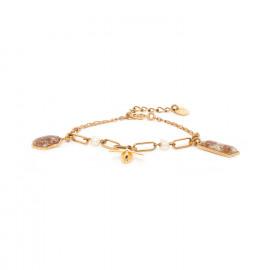bracelet 3 pampilles fermoir mousqueton Abelha - Franck Herval