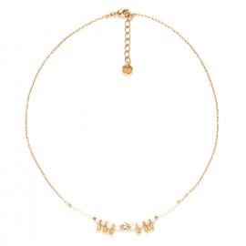 collier gouttes dorées à l'or fin Abelha - Franck Herval