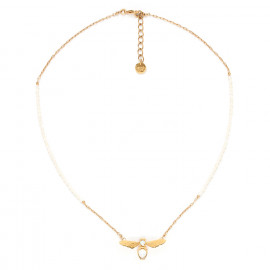 bee necklace with pearls Abelha - Franck Herval