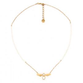 collier abeille et perles d'eau douce Abelha - Franck Herval