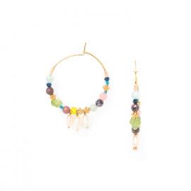 boucles d'oreilles créoles 3 perles de culture Camily - Franck Herval