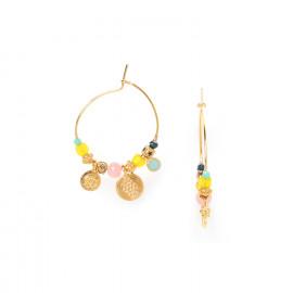 hoop earrings with golden metal disc Camily - Franck Herval