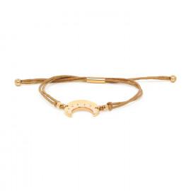 bracelet Lune coton ajustable Celeste - Franck Herval