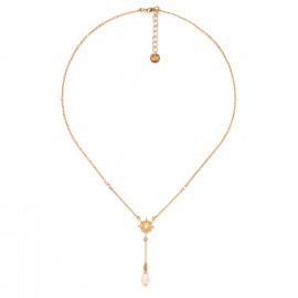 collier fin pendentif étoile et perle Celeste - Franck Herval