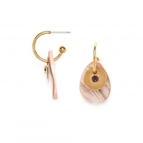 boucles d'oreilles poussoir mini créoles Coralie
