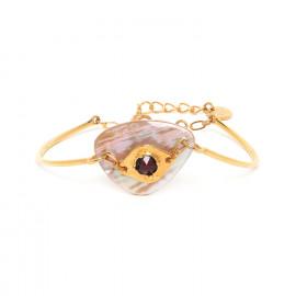 bracelet semi rigide doré à l'or fin Coralie - Franck Herval