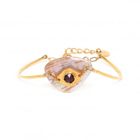 bracelet semi rigide doré à l'or fin Coralie