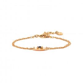 bracelet fin pastille dorée à l'or fin Coralie - Franck Herval