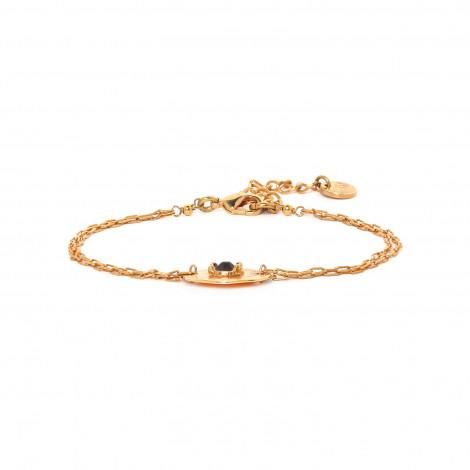 bracelet fin pastille dorée à l'or fin Coralie