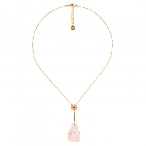 collier pendentif Nacre triangle Coralie