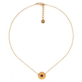 collier pastille dorée à l'or fin Coralie - Franck Herval