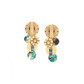 boucles d'oreilles poussoir multipampilles Danna - Franck Herval