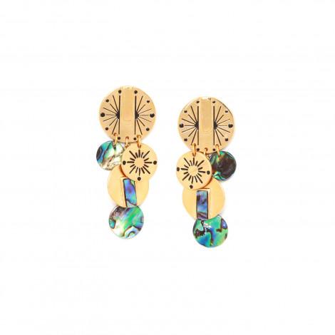boucles d'oreilles poussoir multipampilles Danna