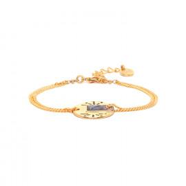 bracelet double chaine dorée à l'or fin Danna - Franck Herval