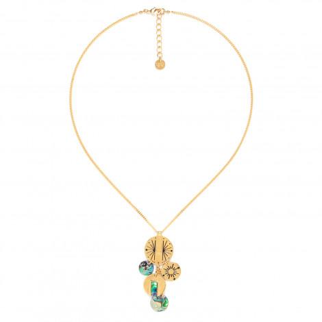 dangled disc necklace Danna