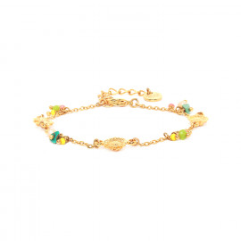 bracelet chaine et pampilles fermoir mousqueton Felicie - Franck Herval