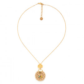 necklace with rattan pendant Felicie - Franck Herval
