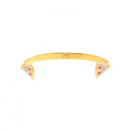 bracelet rigide doré à l'or fin et émaillé à la main Isis - Franck Herval
