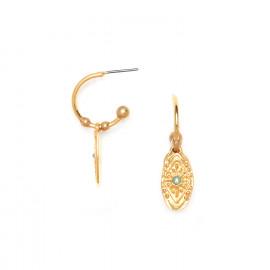 boucles d'oreilles poussoir mini créoles Marta - Franck Herval