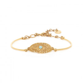bracelet semi-rigide doré à l'or fin Marta - Franck Herval