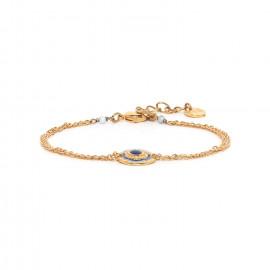 bracelet fin double chaine dorée à l'or fin Sacha - Franck Herval
