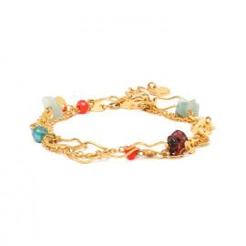 bracelet chaine 2 tours fermoir mousqueton Tiwa - Franck Herval