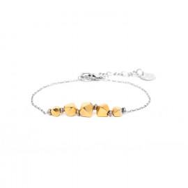 bracelet simple perles dorées à l'or fin Bamako - Ori Tao