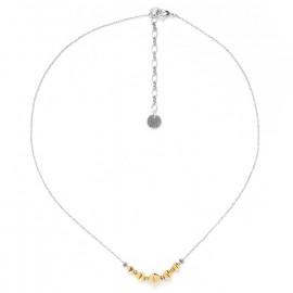 collier simple perles métal dorées à l'or fin Bamako - Ori Tao