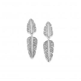 boucles d'oreilles poussoir 2 feuilles Bananier - Ori Tao