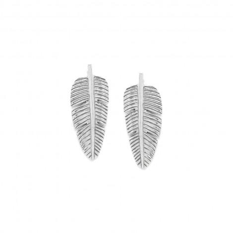 leaf post earrings Bananier