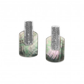 boucles d'oreilles bi-matière grand modèle Cayenne - Ori Tao