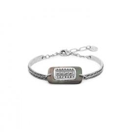 bracelet semi rigide nacre noire de Tahiti Cayenne - Ori Tao