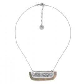 collier petit plastron bi-matière Cayenne - Ori Tao