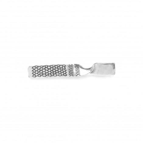 broche métal argenté Kalinga