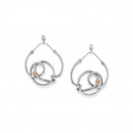 boucles d'oreilles poussoir noeuds pendents La marina - Ori Tao