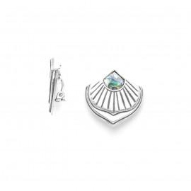 paua fan clips earrings Mirja - Ori Tao