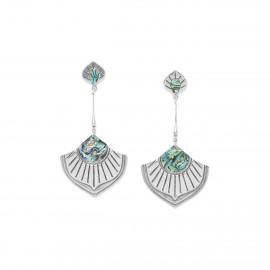 paua long post earrings Mirja - Ori Tao