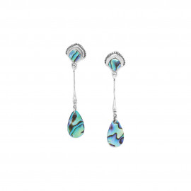 paua drop post earrings Mirja - Ori Tao