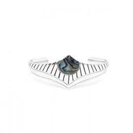 bracelet rigide métal argenté Mirja - Ori Tao