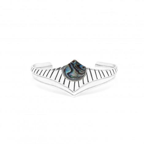 bracelet rigide métal argenté Mirja