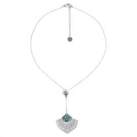collier pendentif deux éléments paua Mirja - Ori Tao