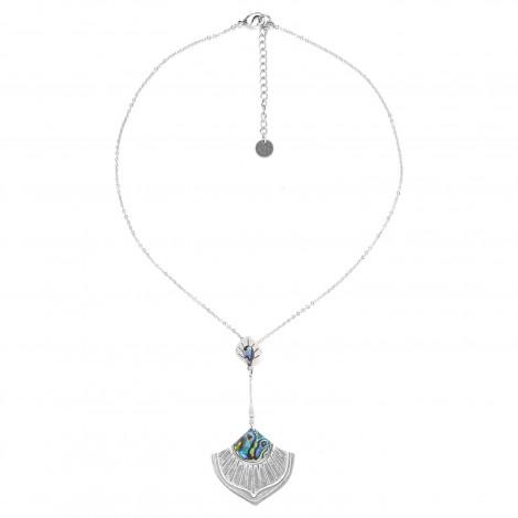 collier pendentif deux éléments paua Mirja