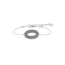 bracelet un anneau métal argenté Niamey - Ori Tao