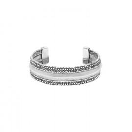 bracelet rigide métal argenté Niamey - Ori Tao