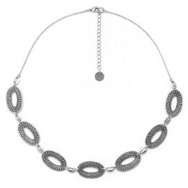 collier sept anneaux métal argenté Niamey - Ori Tao