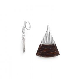 palmwood clips earrings Palmier - Ori Tao