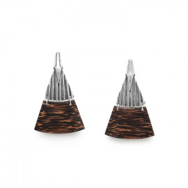 palmwood post earrings Palmier - Ori Tao