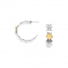 gold 18K creoles earrings Plaza - Ori Tao